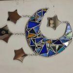 モザイクミラー 月と星